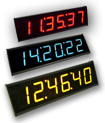 ED312 six digit ethernet time display